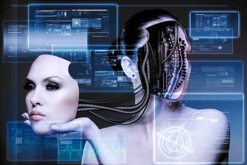 complicated robotic woman