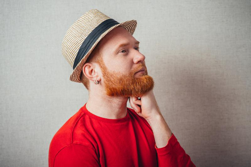 Ginger man in hat